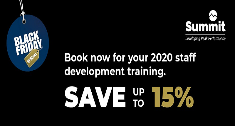 Book staff training today and save!